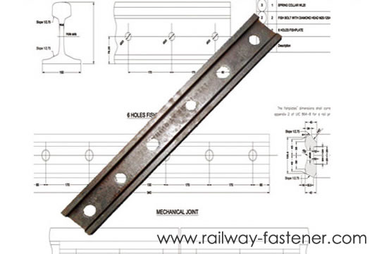 6 Hole Splice joint bar