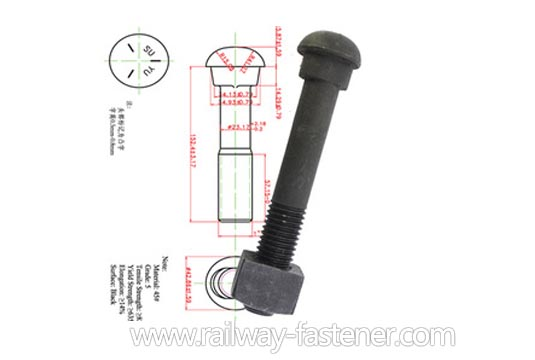 carbon steel fish bolt